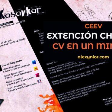 Ceev Extensión Chrome para CV en 1 minuto