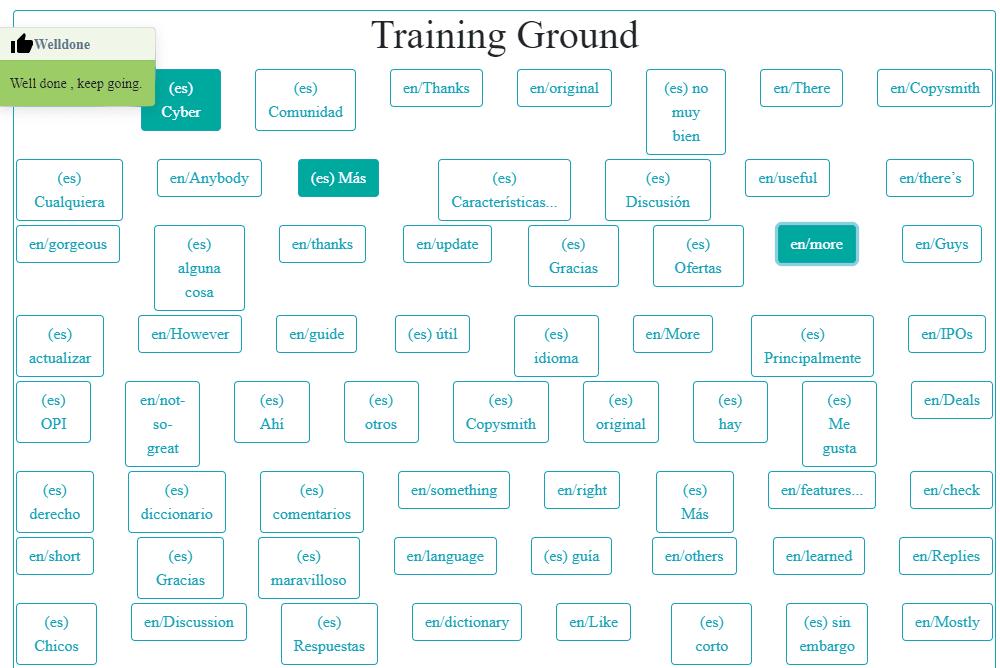 Sección Training Ground