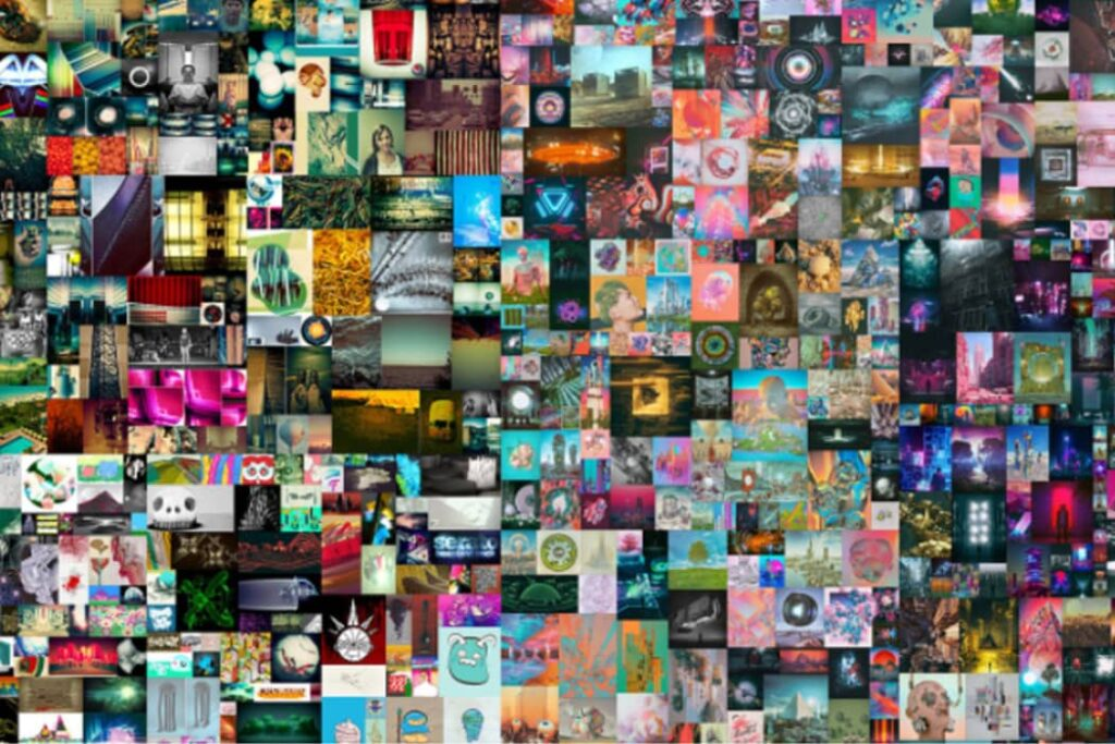 Collage de Everydays The first 5000 days de Mike Winkelmann