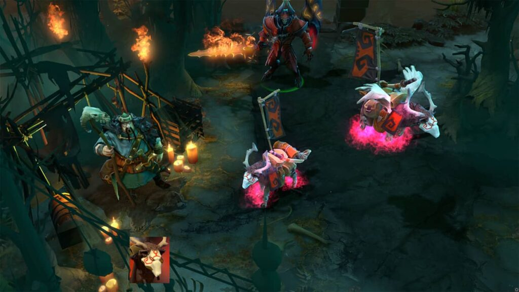 Enduring War Dog de color Rosa del juego DOTA 2